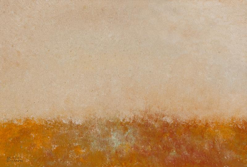 olja 42 X 57 cm. Ingår i serien årstiderna, Pris för hela serien, fyra målningar, 10 000.-